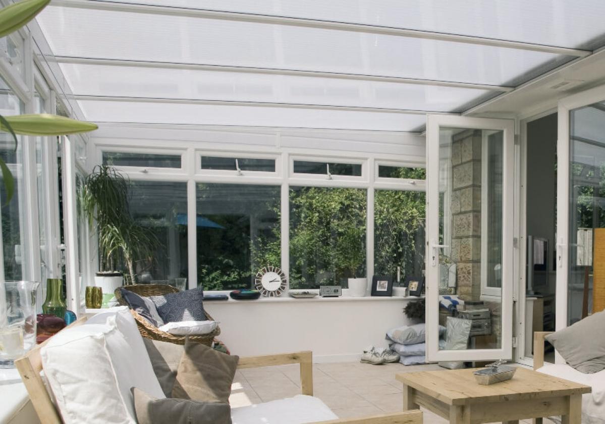 Copertura traslucida di veranda con Onduclair PCMW