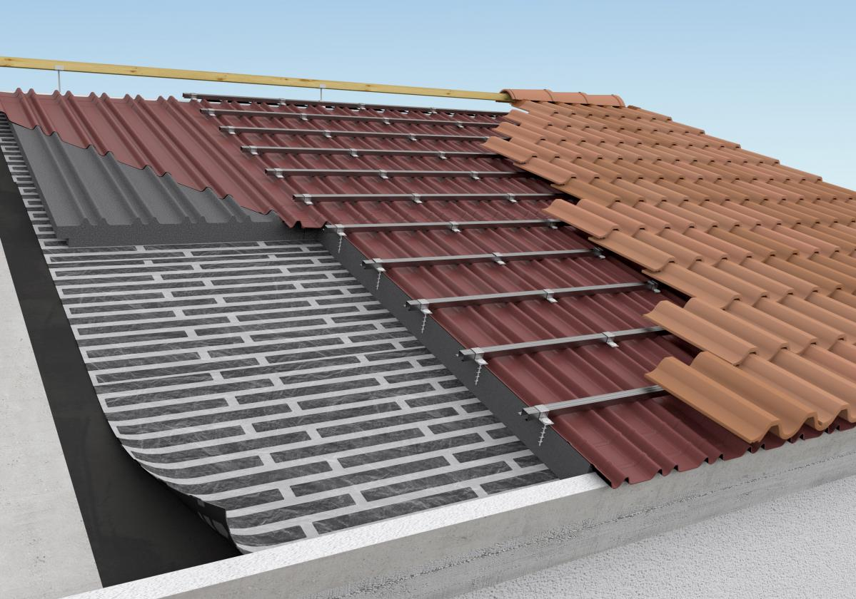 ROOFYNG SYSTEM VLS 20 CLASSIC e tegole in cemento