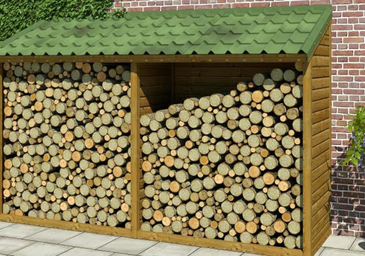 Rimessa per legna con copertura Onduvilla
