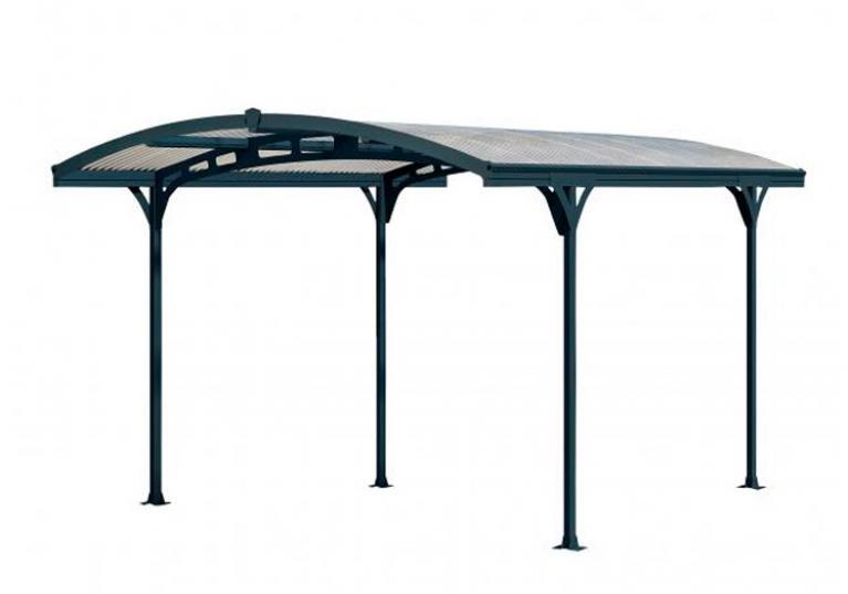 Carport Lucca con copertura traslucida e struttura in alluminio