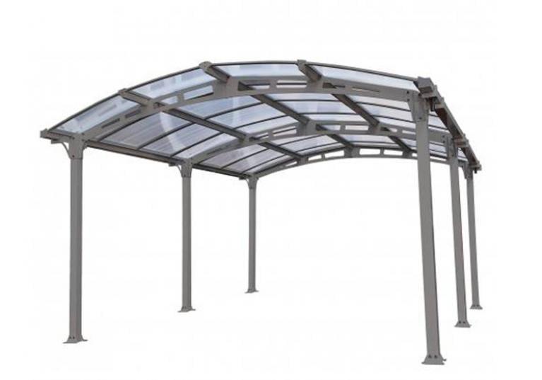 Carport Siena struttura robusta in alluminio e copertura traslucida