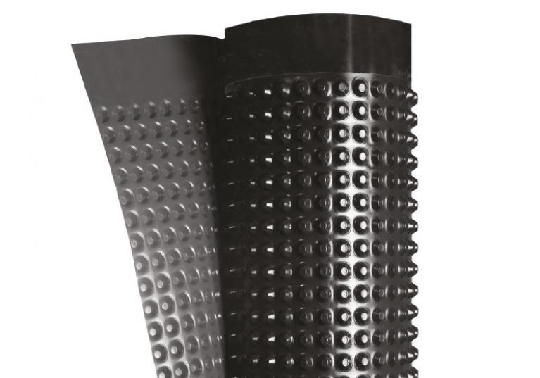 Fondaline membrana bugnata per drenaggio e protezione fondazioni