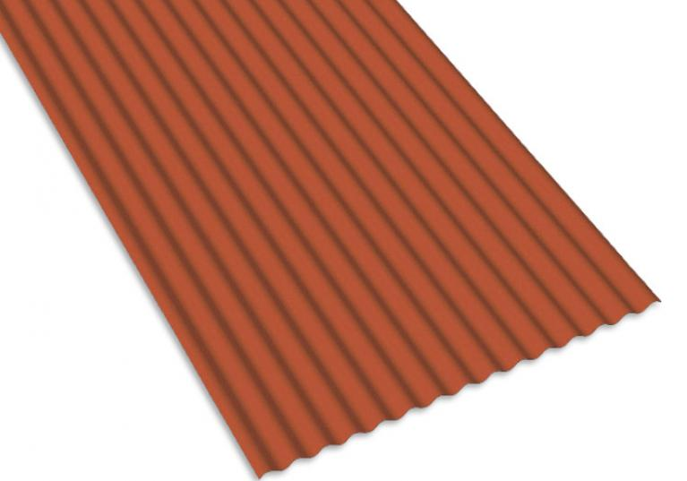 Lastre Onduplast PO color terracotta